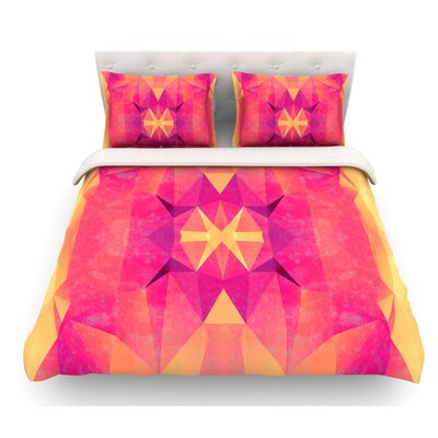 Retro Geometrie by Nika Martinez Featherweight Duvet Cover Size: Queen, Fabric: Woven Polyester