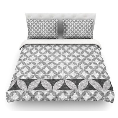 Diamond by Nick Atkinson Featherweight Duvet Cover Color: Black, Size: Queen