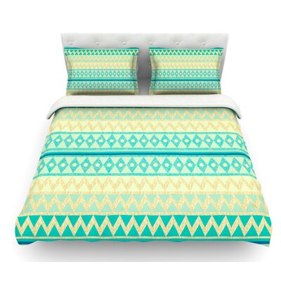 Glitter Chevron by Nika Martinez Featherweight Duvet Cover Size: Twin, Fabric: Woven Polyester
