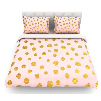 Dots by Nika Martinez Featherweight Duvet Cover Color: Pink, Size: Twin, Fabric: Lightweight Polyester