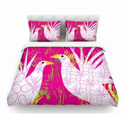 Fruit Birds by Patternmuse Featherweight Duvet Cover Size: Twin