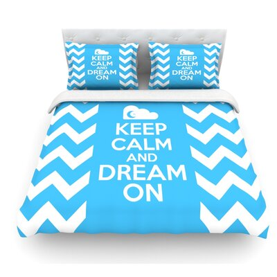 Keep Calm by Nick Atkinson Featherweight Duvet Cover Size: Queen, Fabric: Lightweight Polyester
