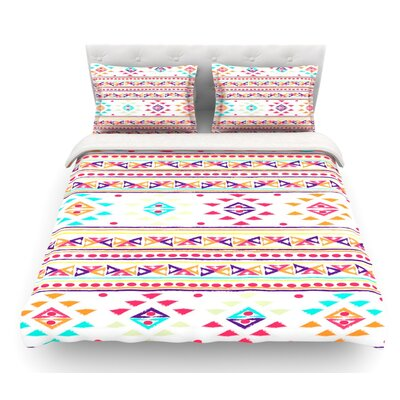 Aylen by Nika Martinez Tribal Featherweight Duvet Cover Size: Queen