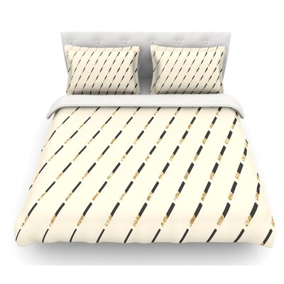 Glitter Diagonals by Nika Martinez Featherweight Duvet Cover Size: King, Fabric: Lightweight Polyester
