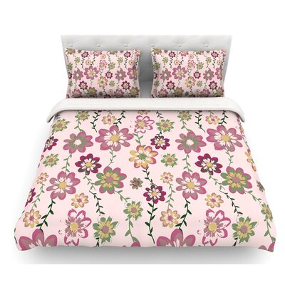 Romantic by Nika Martinez Featherweight Duvet Cover Color: Pink, Size: Queen