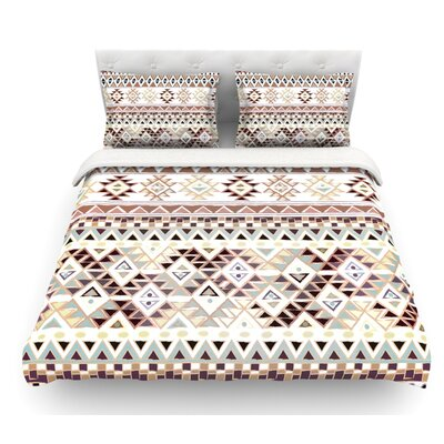 Tribal Native by Nika Martinez Featherweight Duvet Cover Color: Brown, Size: King/California King, Fabric: Woven Polyester