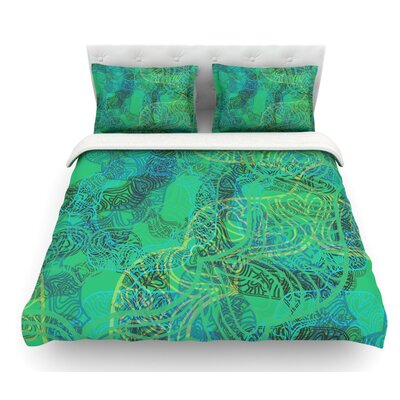 Mandala by Patternmuse Abstract Featherweight Duvet Cover Size: Queen