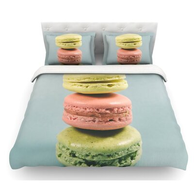 Macarons by Nastasia Cook Dessert Featherweight Duvet Cover Size: Twin