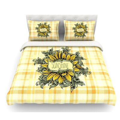 Sunflower Sunshine by Nick Atkinson Featherweight Duvet Cover Size: King