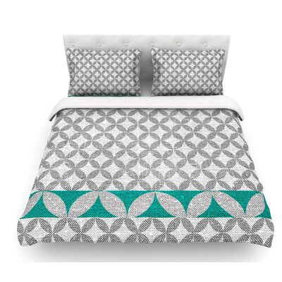Diamond by Nick Atkinson Featherweight Duvet Cover Size: King, Color: Turquoise