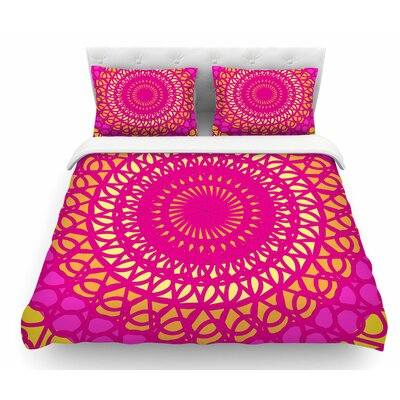 Radiant Pomegranate by Patternmuse Featherweight Duvet Cover Size: Queen