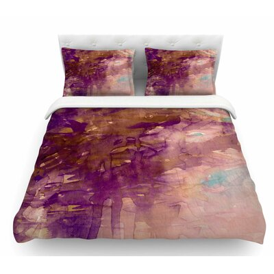 Carnival Dreams by Ebi Emporium Featherweight Duvet Cover Color: Purple/Brown, Size: Queen