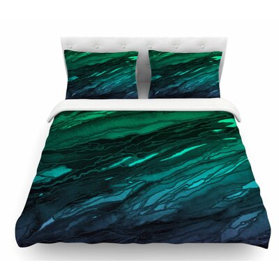 Agate Magic by Ebi Emporium Featherweight Duvet Cover Color: Green/Aqua/Purple, Size: Twin