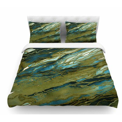 Agate Magic by Ebi Emporium Featherweight Duvet Cover Size: King, Color: Teal/Brown/Blue