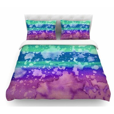 California Surf by Ebi Emporium Featherweight Duvet Cover Size: Twin, Color: Orange/Blue