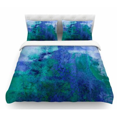Epoch by Ebi Emporium Featherweight Duvet Cover Color: Blue/Teal, Size: Queen
