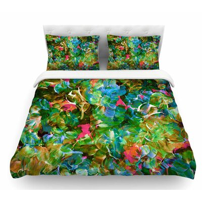 Bloom On! by Ebi Emporium Featherweight Duvet Cover Size: Queen, Color: Green/Blue