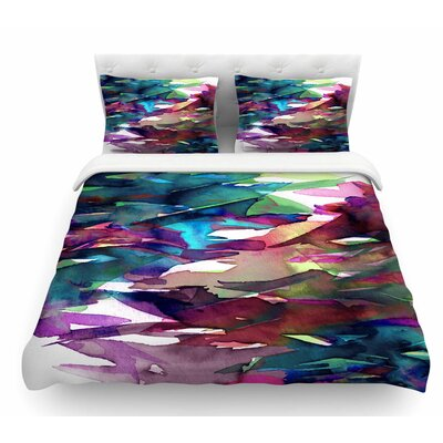 Fervor by Ebi Emporium Featherweight Duvet Cover Size: King, Color: Magenta