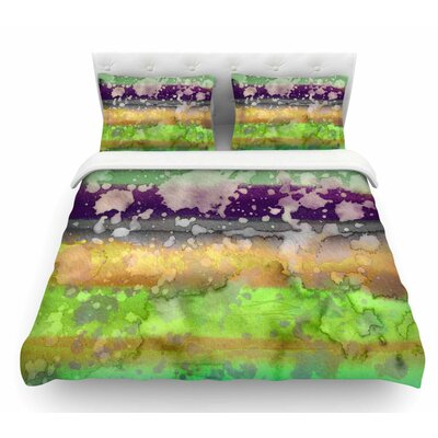 California Surf by Ebi Emporium Featherweight Duvet Cover Color: Teal/Purple, Size: King