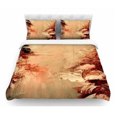 Winter Dreamland by Ebi Emporium Featherweight Duvet Cover Color: Orange/Maroon, Size: Queen