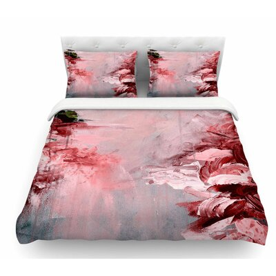 Winter Dreamland by Ebi Emporium Featherweight Duvet Cover Size: King, Color: Red/Gray