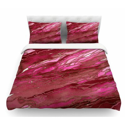 Agate Magic by Ebi Emporium Featherweight Duvet Cover Color: Hot Pink/Red/Magenta, Size: Twin