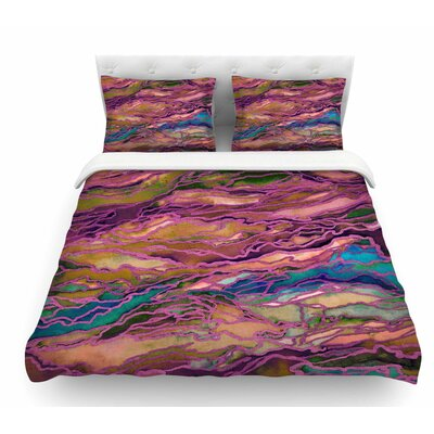 Marble Idea! by Ebi Emporium Featherweight Duvet Cover Size: King, Color: Lavender/Pink