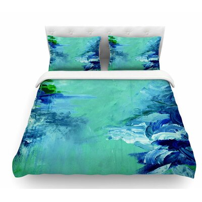 Winter Dreamland by Ebi Emporium Featherweight Duvet Cover Size: Twin, Color: Green/Blue