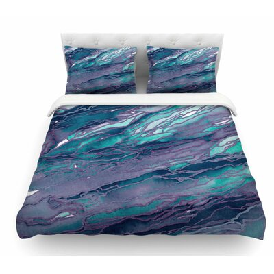 Agate Magic by Ebi Emporium Featherweight Duvet Cover Color: Lilac/Blue/Lavender, Size: Twin