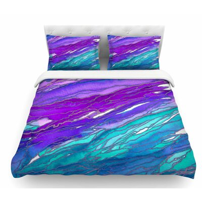 Agate Magic by Ebi Emporium Featherweight Duvet Cover Color: Purple/Blue/Aqua, Size: Queen