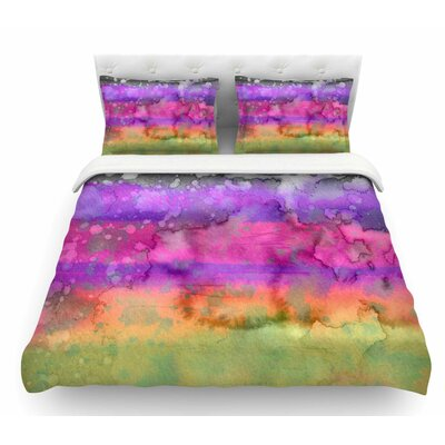 California Surf by Ebi Emporium Featherweight Duvet Cover Size: Queen, Color: Pink/Purple