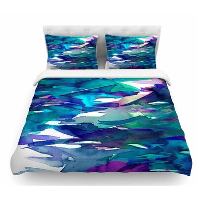 Fervor by Ebi Emporium Featherweight Duvet Cover Color: Blue/Teal, Size: Queen