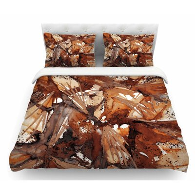 Birds of Prey by Ebi Emporium Featherweight Duvet Cover Size: Twin, Color: Tan/Beige/Watercolor