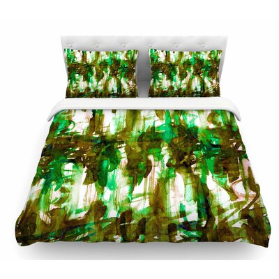 Noise by Ebi Emporium Featherweight Duvet Cover Color: Green/Olive, Size: Twin