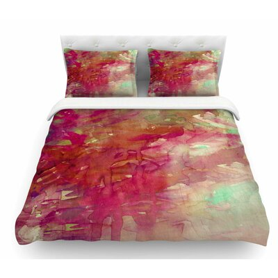 Carnival Dreams by Ebi Emporium Featherweight Duvet Cover Color: Red/Beige, Size: Queen