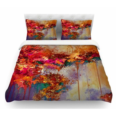 When Land Met Sky by Ebi Emporium Featherweight Duvet Cover Size: King, Color: Red/Purple