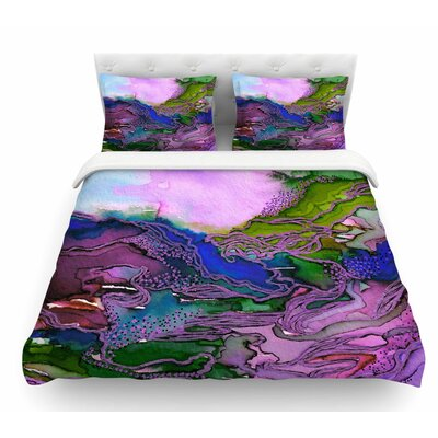 Bring on Bohemia by Ebi Emporium Featherweight Duvet Cover Color: Lavender/Blue/Purple, Size: King