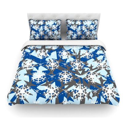 Ice Topography by Miranda Mol Featherweight Duvet Cover Size: King, Fabric: Lightweight Polyester