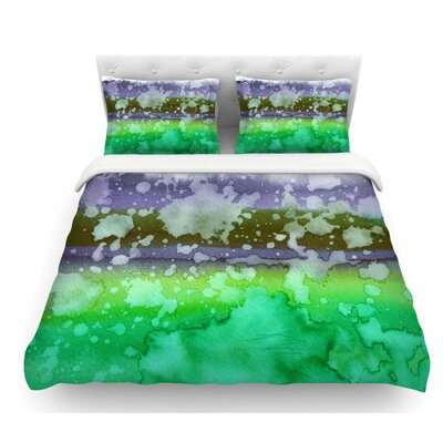California Surf by Ebi Emporium Featherweight Duvet Cover Color: Aqua/Green/Teal, Size: King