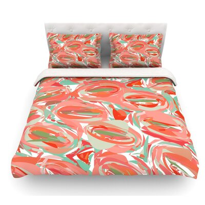 Go Left by Matthias Hennig Featherweight Duvet Cover Size: King, Color: Red, Fabric: Woven Polyester