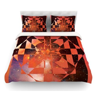 Galactic Hope by Matt Eklund Featherweight Duvet Cover Color: Red/Orange, Size: Queen