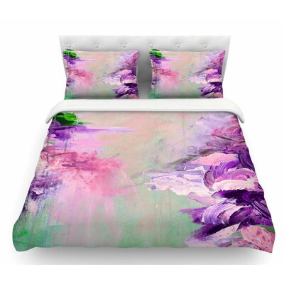 Winter Dreamland by Ebi Emporium Featherweight Duvet Cover Size: King, Color: Pink/Purple