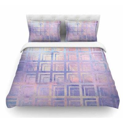 Tiled by Matt Eklund Featherweight Duvet Cover Color: Pink/Purple, Size: King