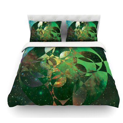 Galactic Brilliance by Matt Eklund Featherweight Duvet Cover Color: Yellow, Size: Queen