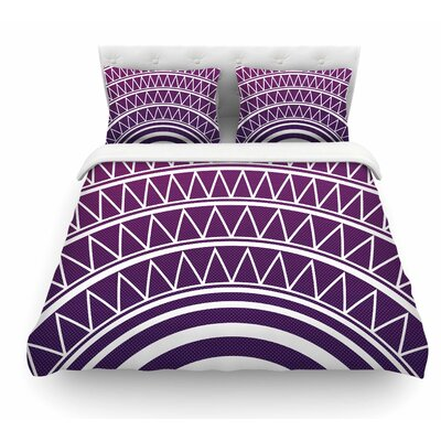Portal by Matt Eklund Featherweight Duvet Cover Size: Twin, Color: Purple/White