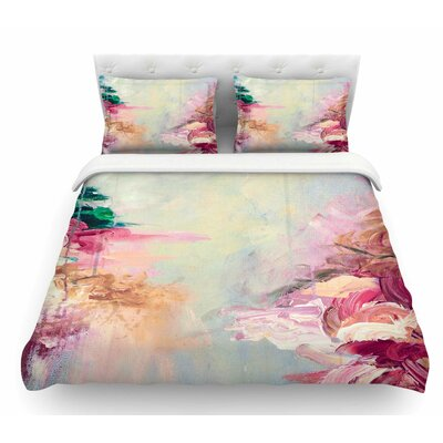Winter Dreamland by Ebi Emporium Featherweight Duvet Cover Color: Blue/Maroon, Size: Queen