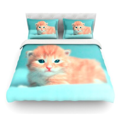 Dreamcat by Monika Strigel Featherweight Duvet Cover Size: Queen