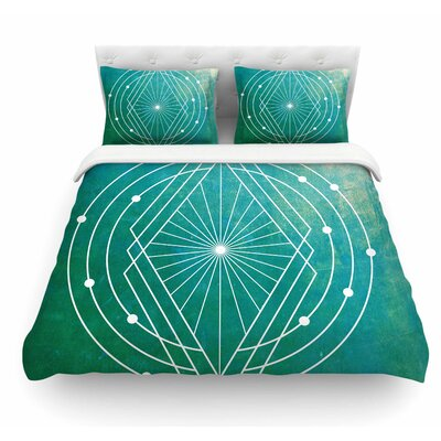 Atlantis by Matt Eklund Geometric Featherweight Duvet Cover Size: Twin