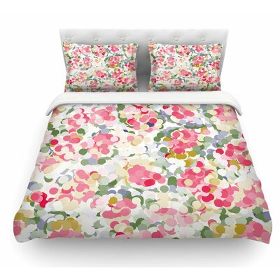 Soft Dots by Matthias Hennig Floral Featherweight Duvet Cover Size: Queen