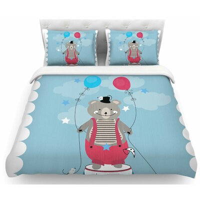 Circus Bear by Michelle Drew Featherweight Duvet Cover Size: King